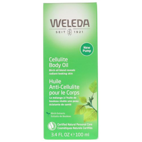 Weleda, Cellulite Body Oil, Almond Extracts, Sensitive Skin, 3.4 fl oz (100 ml) فوائد