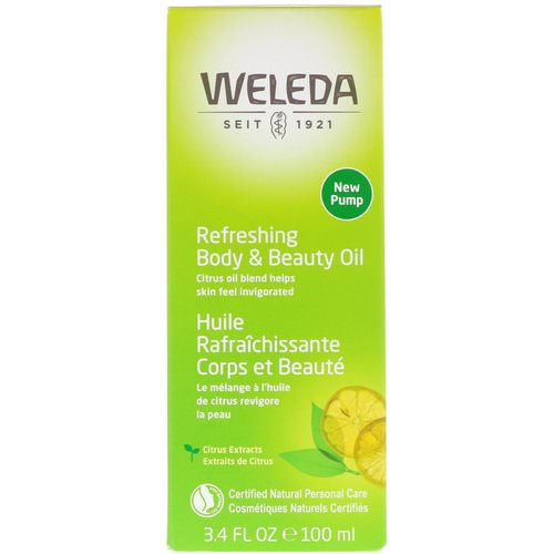 Weleda, Refreshing Body & Beauty Oil, Citrus Extracts, 3.4 fl oz (100 ml) فوائد