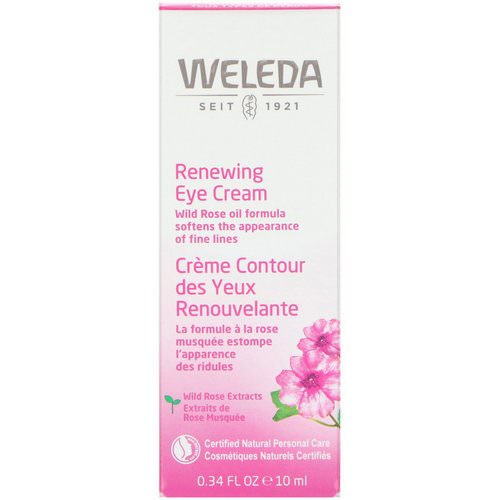 Weleda, Renewing Eye Cream, Wild Rose Extracts, All Skin Types, 0.34 fl oz (10 ml) فوائد