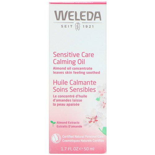 Weleda, Sensitive Care Calming Oil, Almond Extracts, Sensitive Skin, 1.7 fl oz (50 ml) فوائد