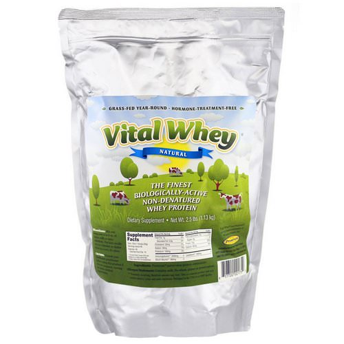 Well Wisdom, Vital Whey, Natural, 2.5 lbs (1.13 kg) فوائد