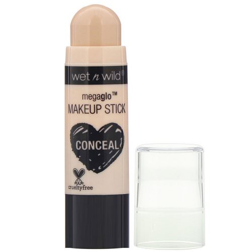 Wet n Wild, MegaGlo Makeup Stick, Conceal, Follow Your Bisque, 0.21 oz (6 g) فوائد