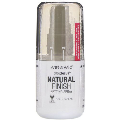 Wet n Wild, PhotoFocus Natural Finish Setting Spray, Seal the Deal, 1.52 fl oz (45 ml) فوائد