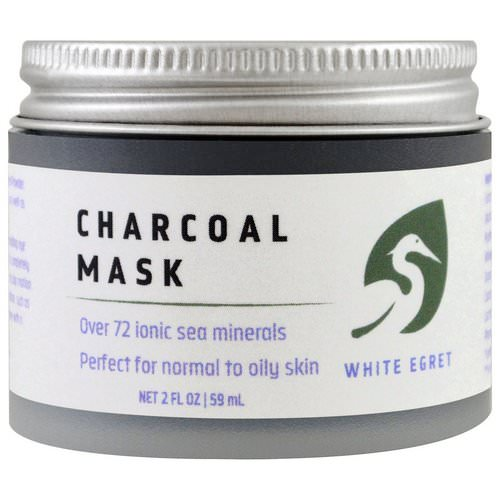 White Egret Personal Care, Charcoal Mask, 2 fl oz (59 ml) فوائد