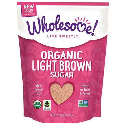 Wholesome, Organic Light Brown Sugar, 1.5 lbs (24 oz.) - 680 g فوائد