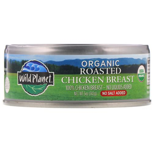 Wild Planet, Organic Roasted Chicken Breast, No Salt Added, 5 oz (142 g) فوائد