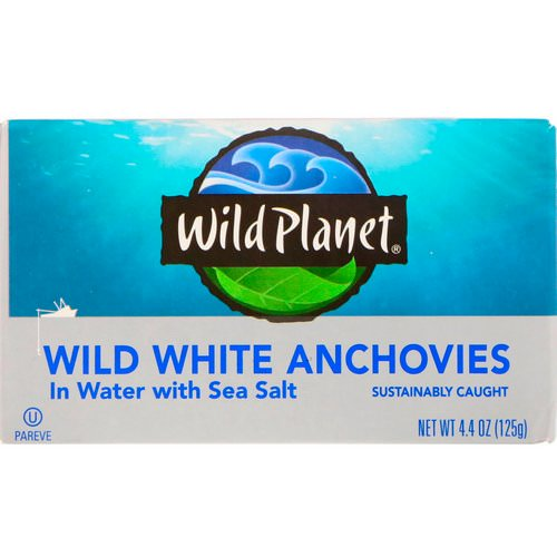 Wild Planet, Wild White Anchovies in Water With Sea Salt, 4.4 oz (125 g) فوائد