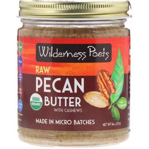 Wilderness Poets, Organic Raw Pecan Butter with Cashews, 8 oz (227 g) فوائد