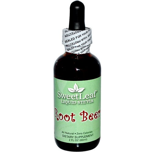 Wisdom Natural, SweetLeaf, Liquid Stevia, Root Beer, 2 fl oz (60 ml) فوائد