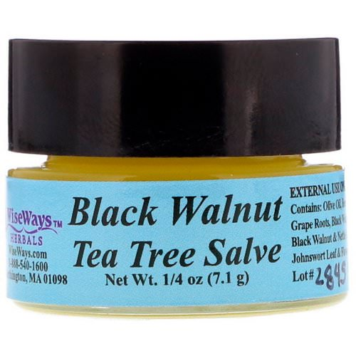 WiseWays Herbals, Black Walnut Tea Tree Salve, 1/4 oz (7.1 g) فوائد