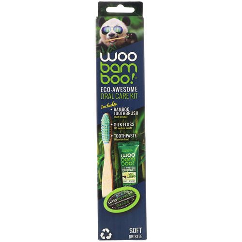 Woobamboo, Eco-Awesome Oral Care Kit, 1 Kit فوائد