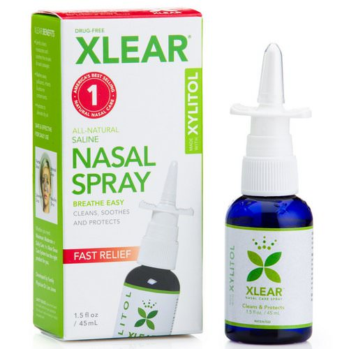 Xlear, Xylitol Saline Nasal Spray, Fast Relief, 1.5 fl oz (45 ml) فوائد