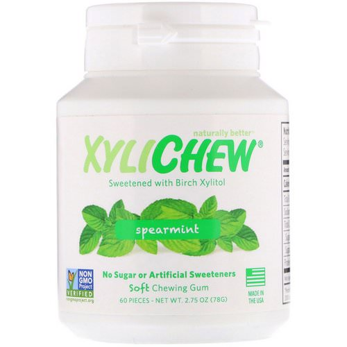 Xylichew, Spearmint, 60 Pieces, 2.75 oz (78 g) فوائد