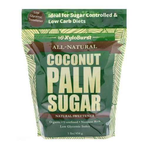 Xyloburst, All-Natural Coconut Palm Sugar, Low Glycemic Sweetener, 1 lb. (454 g) فوائد
