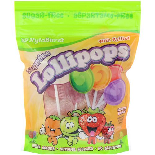 Xyloburst, Sugar-Free Lollipops with Xylitol, Assorted Flavors, Approximately 25 Lollipops (9.3 oz) فوائد