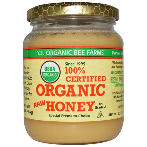Y.S. Eco Bee Farms, 100% Certified Organic Raw Honey, 1.0 lb (454 g) فوائد