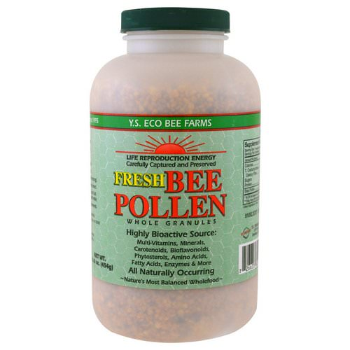 Y.S. Eco Bee Farms, Fresh Bee Pollen Whole Granules, 16.0 oz (454 g) فوائد