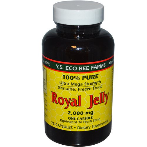 Y.S. Eco Bee Farms, Royal Jelly, 100% Pure, 2,000 mg, 75 Capsules فوائد