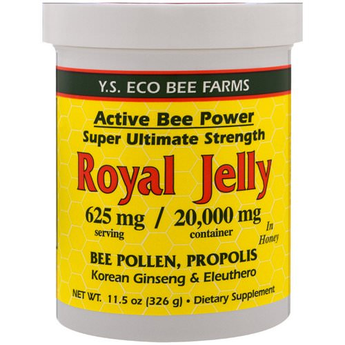 Y.S. Eco Bee Farms, Royal Jelly in Honey, 625 mg, 11.5 oz (326 g) فوائد