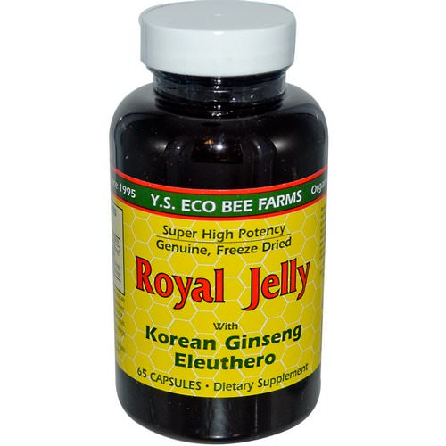 Y.S. Eco Bee Farms, Royal Jelly, with Korean Ginseng Eleuthero, 65 Capsules فوائد
