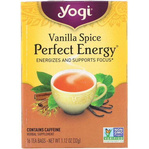 Yogi Tea, Perfect Energy, Vanilla Spice, 16 Tea Bags, 1.12 oz (32 g) فوائد