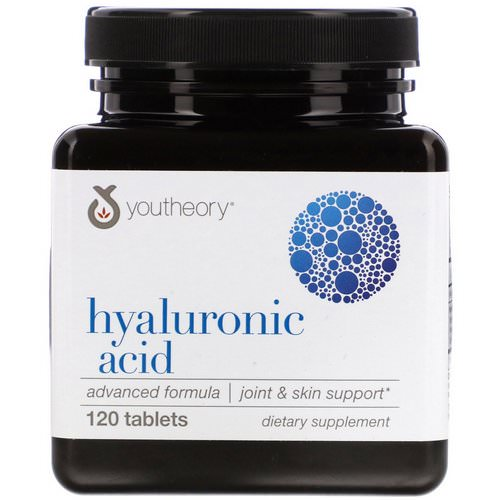 Youtheory, Hyaluronic Acid Advanced Formula, 120 Tablets فوائد