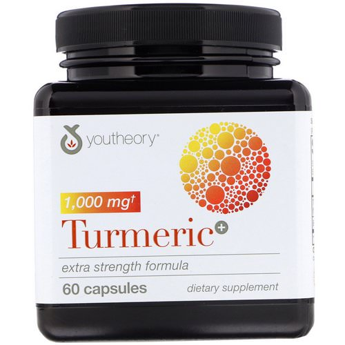 Youtheory, Turmeric, Extra Strength Formula, 1,000 mg, 60 Capsules فوائد