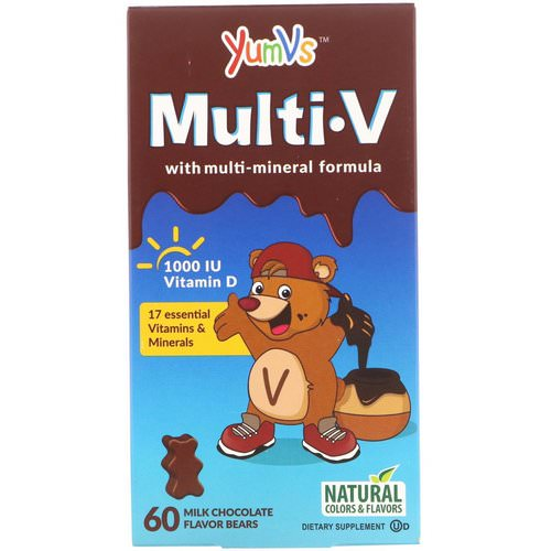 YumV's, Multi V with Multi-Mineral Formula, Milk Chocolate Flavor, 60 Bears فوائد