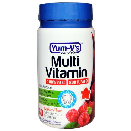 YumV's, Multi Vitamin, for Adults,Raspberry Flavor, 60 Jelly Vitamins فوائد