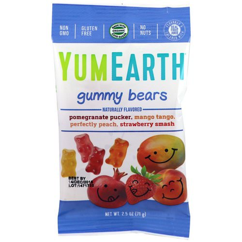 YumEarth, Gummy Bears, Assorted Flavors, 12 Packs, 2.5 oz (71 g) Each فوائد