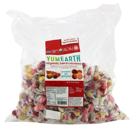 YumEarth, Organic Hard Candies, Assorted Flavors, 5 lbs (2268 g) فوائد
