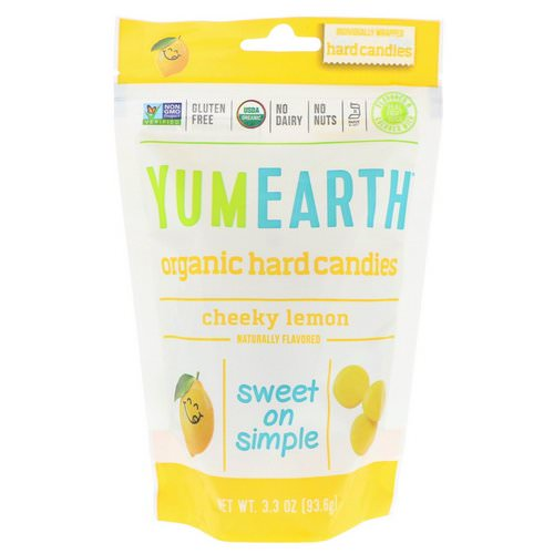 YumEarth, Organic Hard Candies, Cheeky Lemon, 3.3 oz (93.6 g) فوائد