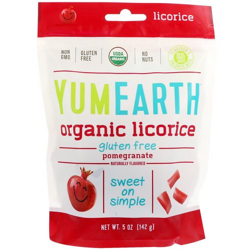 YumEarth, Organic Licorice, Pomegranate, 5 oz (142 g) فوائد
