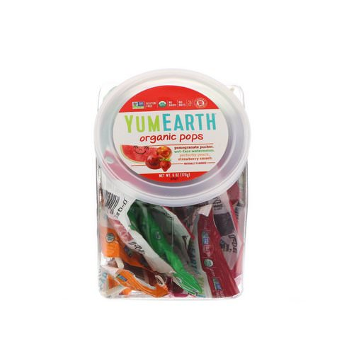 YumEarth, Organic Lollipops, 6 oz (170 g) فوائد
