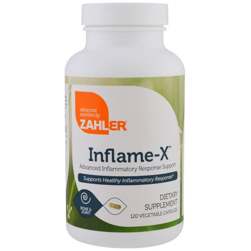 Zahler, Inflame-X, Advanced Inflammatory Response Support, 120 Vegetable Capsules فوائد
