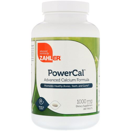 Zahler, PowerCal, Advanced Calcium Formula, 1000 mg, 180 Tablets فوائد