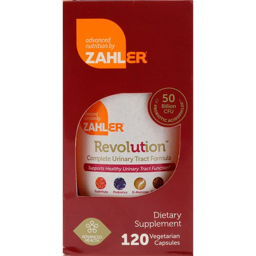 Zahler, Revolution, Complete Urinary Tract Formula, 120 Vegetarian Capsules فوائد
