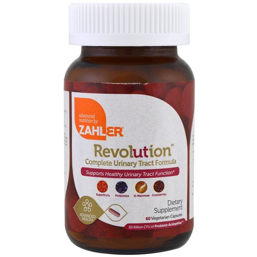 Zahler, Revolution, Complete Urinary Tract Formula, 60 Vegetarian Capsules فوائد