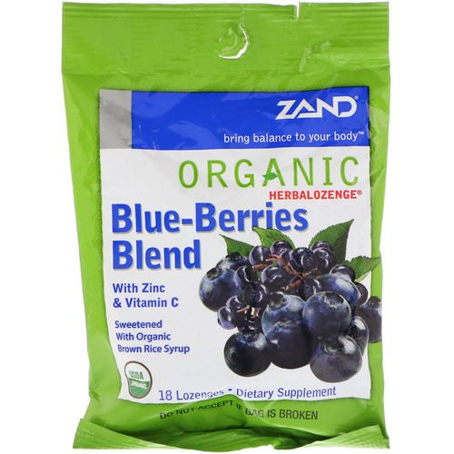 Zand, Organic Herbalozenge, Blue-Berries Blend, 18 Lozenges فوائد