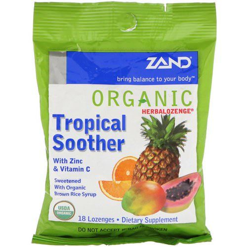 Zand, Organic Herbalozenge, Tropical Soother, 18 Lozenges فوائد
