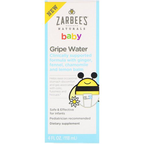 Zarbee's, Baby, Gripe Water, 4 fl oz (118 ml) فوائد