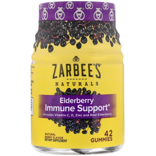 Zarbee's, Elderberry Immune Support, Natural Berry, 42 Gummies فوائد