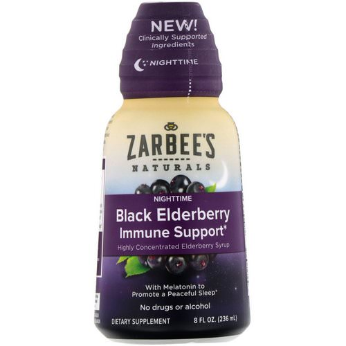Zarbee's, NightTime Black Elderberry Immune Support, 8 fl oz (236 ml) فوائد