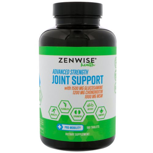 Zenwise Health, Advanced Strength Joint Support, 180 Tablets فوائد