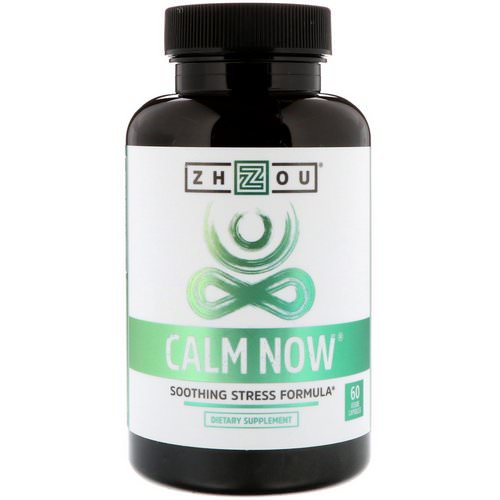 Zhou Nutrition, Calm Now, Soothing Stress Formula, 60 Veggie Capsules فوائد