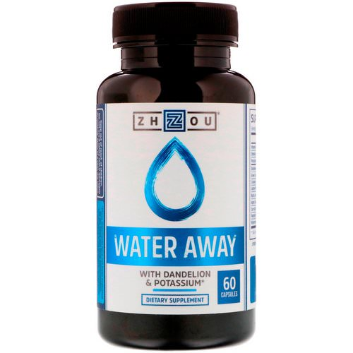 Zhou Nutrition, Water Away with Dandelion & Potassium, 60 Capsules فوائد