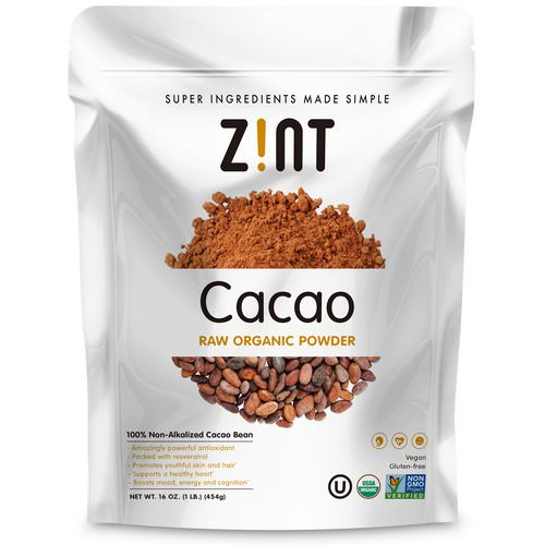 Zint, Raw Organic Cacao Powder, 16 oz (454 g) فوائد