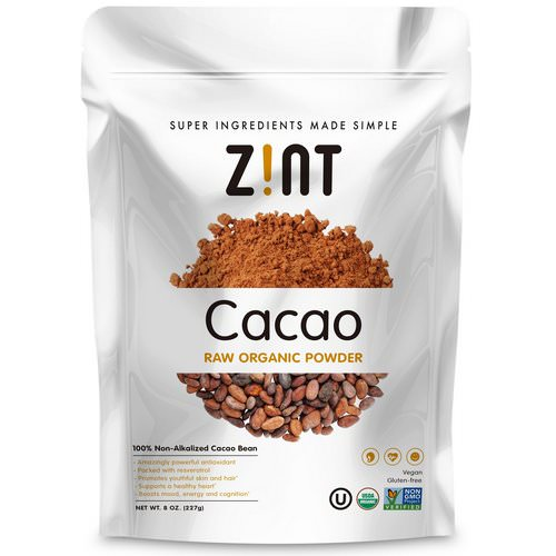 Zint, Raw Organic Cacao Powder, 8 oz (227 g) فوائد