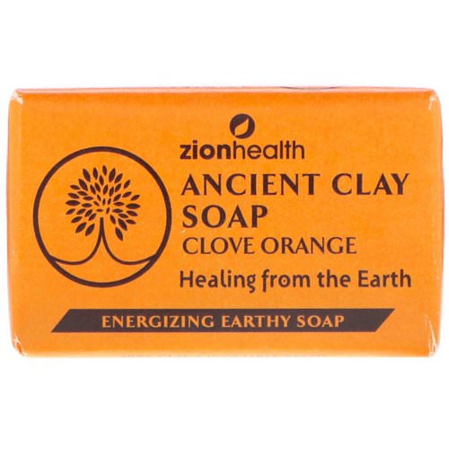 Zion Health, Ancient Clay Soap, Clove Orange, 6 oz (170 g) فوائد