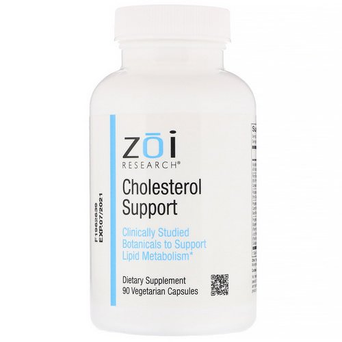 ZOI Research, Cholesterol Support, 90 Vegetarian Capsules فوائد